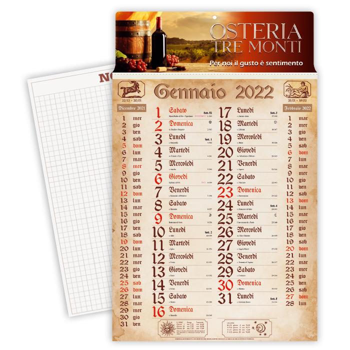 CALENDARIO OLANDESE ANTICO CARTA PATINATA gr.70 TESTATA A ART. CA-619/A