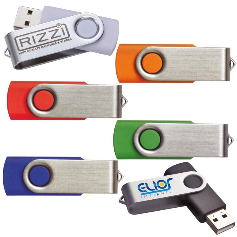 MEMORIA USB DA 4GB  pl./alluminio ART. CM-11