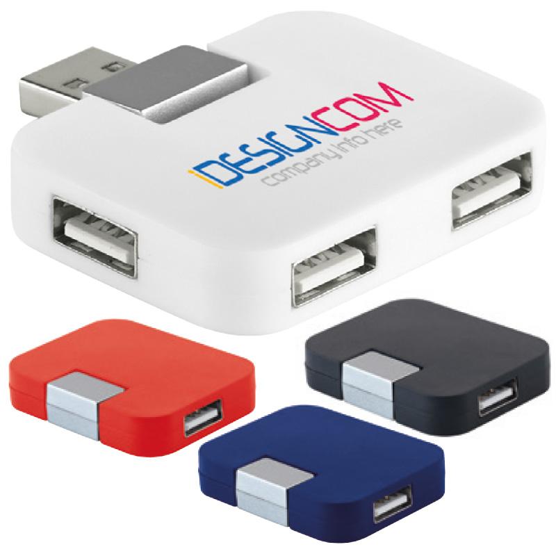 USB HUB 2.0 4 PORTE cm.25,2x4,1x1,2 ART.CM-136