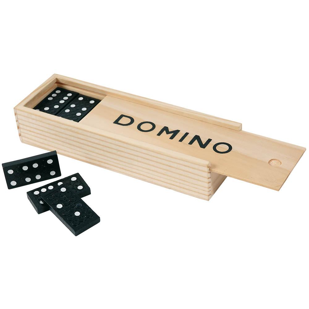 GIOCO DEL DOMINO, 28 PZ. IN LEGNO CONF. IN SCATOLA LEGNO cm.15x5x3 ART. PT-205 DOMINO