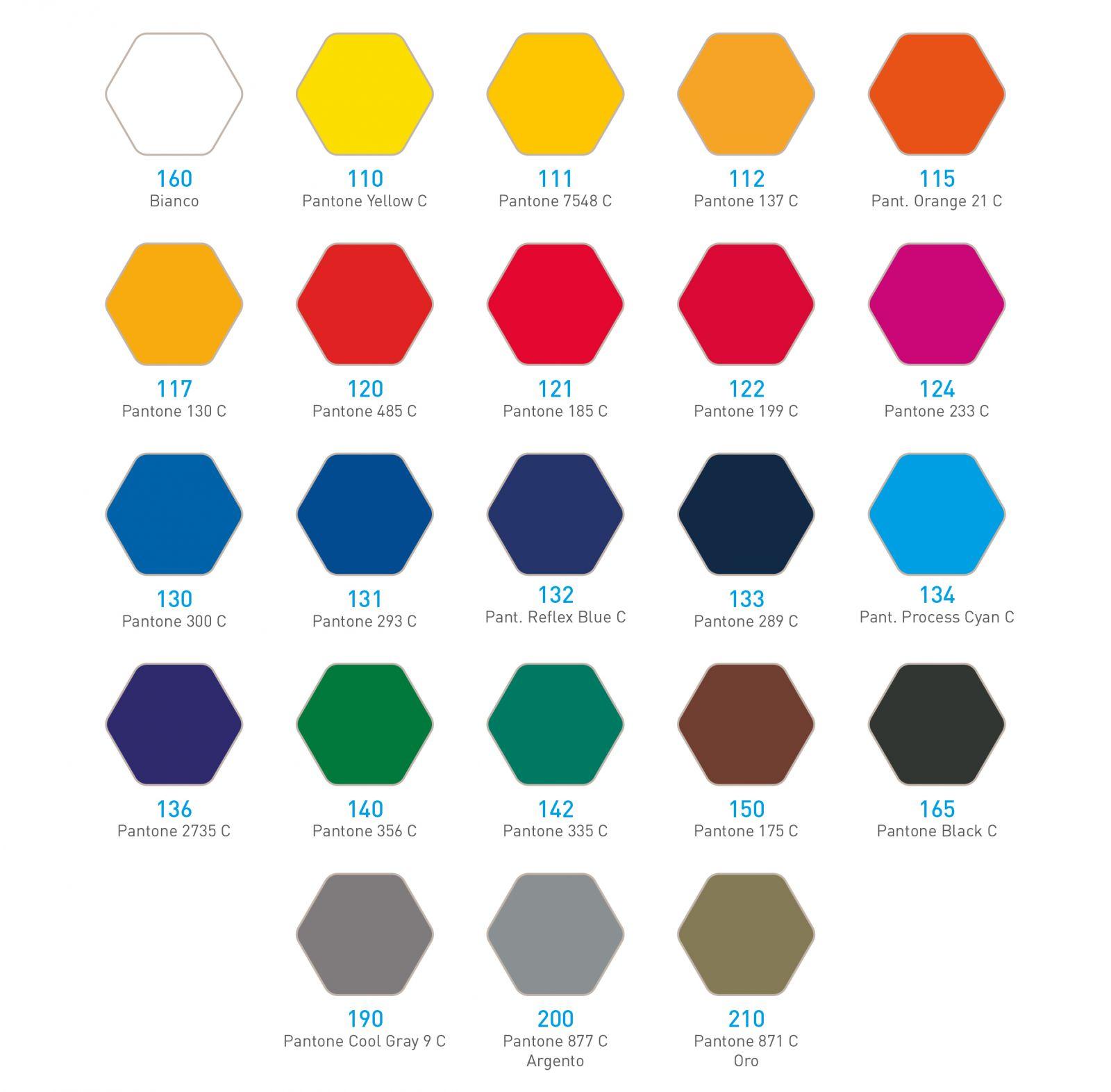 Tabella colori standard